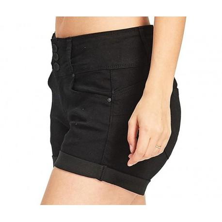 Short Jeans Feminina Curto Cintura Alta Bolso Modis Top Casual Bonita.