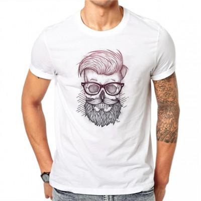 Camiseta Estampada Caveira...