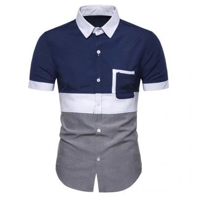 Camisa Social Color Block...