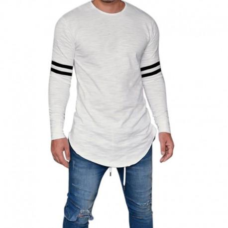 Camiseta Masculina Manga Longa Moda Outono Moderna Top Casual
