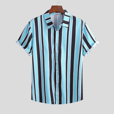 Camisa Azul com Listras...