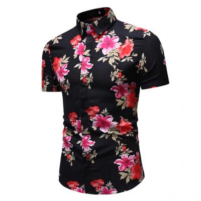 Camisa Preta Estampa Floral...