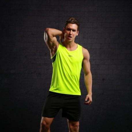 Camiseta Regata Esportiva Masculina Básica Fashion Moderno Estampa Color Block Treinos Academia