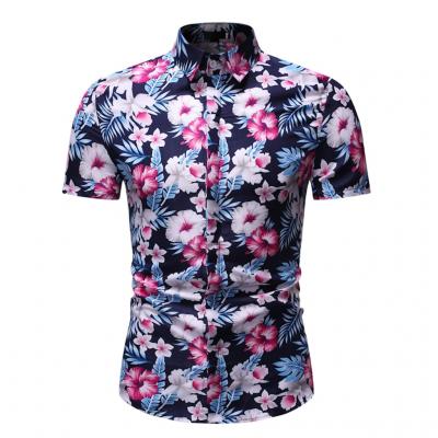 Camisa Havaiana Manga Curta...
