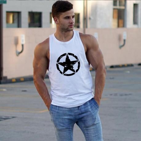 Camisa Regata Masculina Moda Fitness Treino Top Casual Homens Espotiva