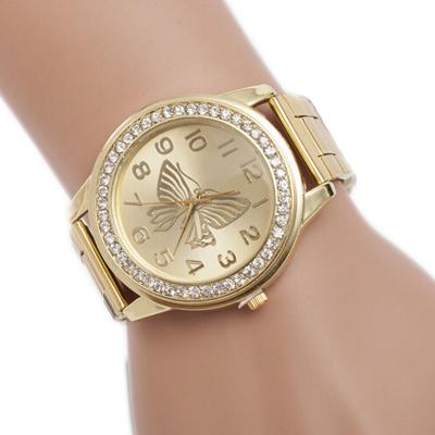 Relógio Quartzo Dourado de...