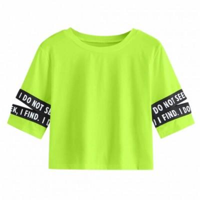Blusa Cropped Verde Neon...