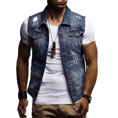 Colete Jeans Masculino com...
