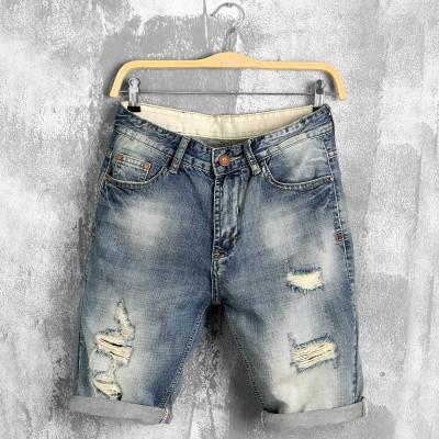 Short Jeans Rasgado...