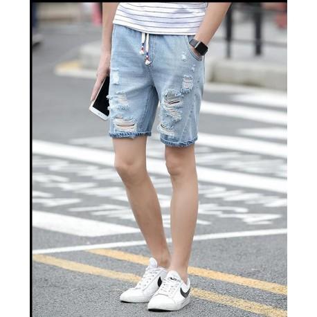 Short Rasgado Masculino Estiloso Lazer Fashion Top Casual Homens