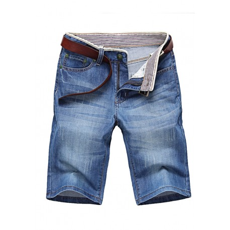 Short Jeans Masculino Estiloso Moda Outono Festas Top Casual Homens
