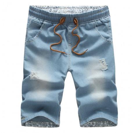 Short Jeans Masculino Moda Verão Fashion Top Casual Homens