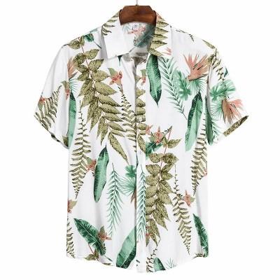 Camisa Havaiana Branca Moda...