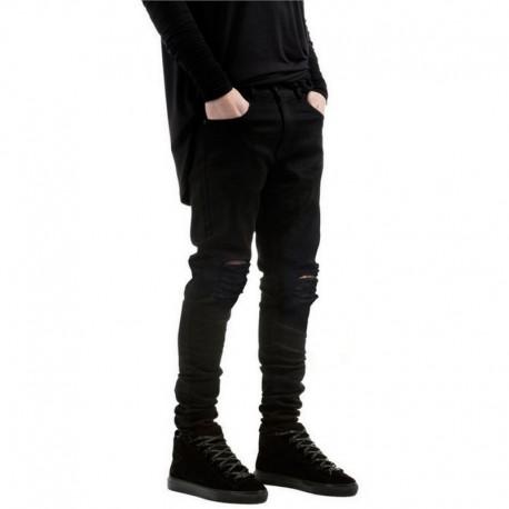 Calça Jeans Masculina Rasgada Moda Hip Hop Top Casual Homens