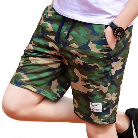 Bermuda Moletom Camuflado Masculino Estilo Militar Casual Top Fashion