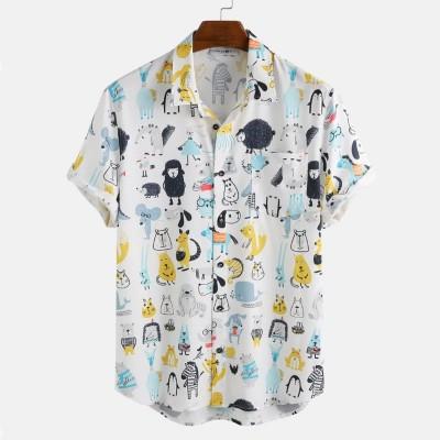 Camisa com Estampa de...