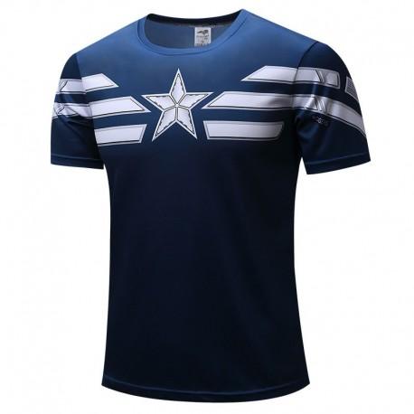 Camiseta Capitão America Marvel Masculina Estampada Herois Top avenger