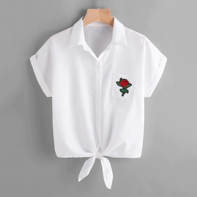 Camisa Branca Básica Curta...