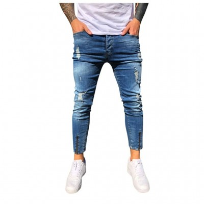 Calça Jeans Brim Skinny com...