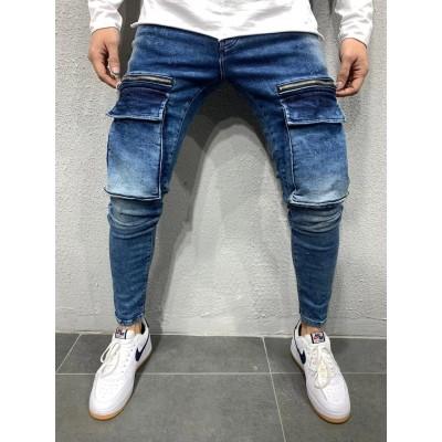 Calça Jeans Brim com Bolso...