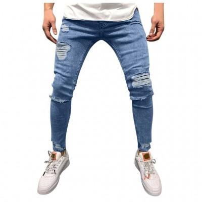 Calça Brim Jeans com Rasgos...
