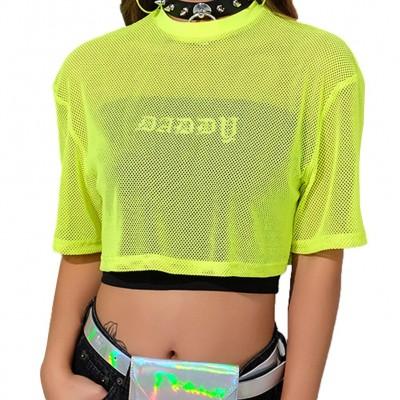 Blusa Cropped Transparente...