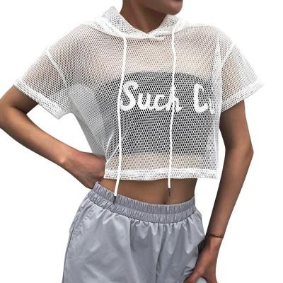 Blusa Cropped com Capuz...