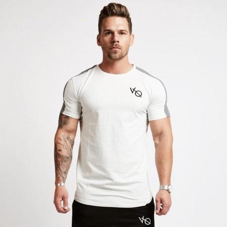 Camiseta Masculina Verão Moda Fitness Gola O Top Casual Homens