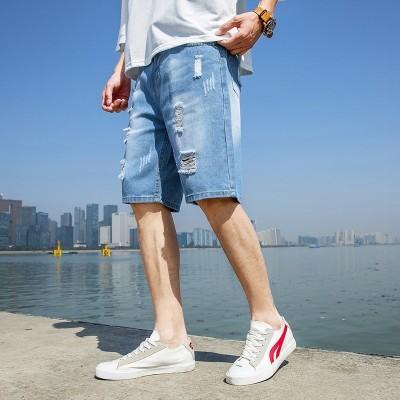 Bermuda Jeans Rasgada...