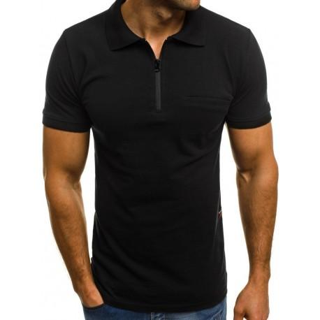 Camisa Polo Masculina Zipper Fashion Moda Verão Homens Top Estiloso
