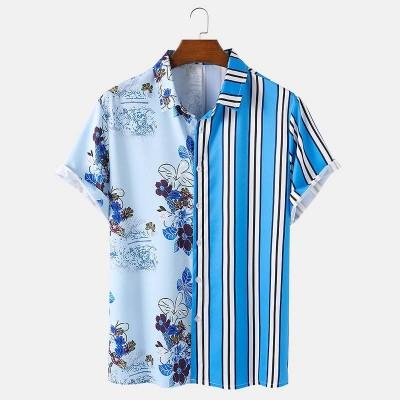 Camisa Floral Masculina com...