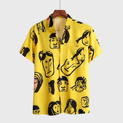 Camisa Amarela Masculina...