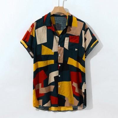 Camisa Geométrica Colorida...