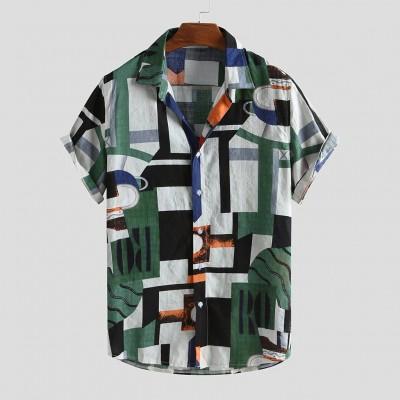 Camisa Geométrica Havaiana...
