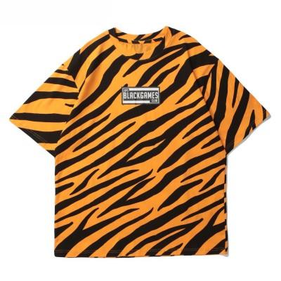 Camiseta Listrada Estampada...