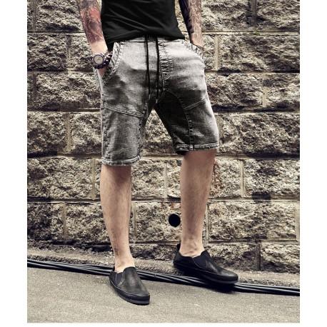 Bermuda Jeans Casuais Masculino Elástica Moda Verão Top Estiloso