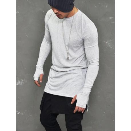 Camiseta Justa Top Casual Masculina Manga Longa Estiloso Moda Inverno