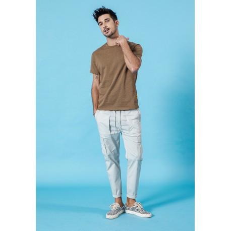 Camiseta Masculina Moda Casual Top Verão Homens Estiloso Fashion