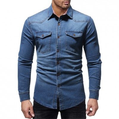 Camisa Jeans Masculina...