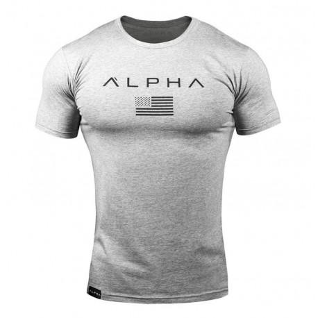 Camiseta Alpha Masculina de Treino Sport Casual Moda Verão Manga curta