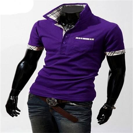 Camisa Polo Moderna Elegante Casual Masculina Manga Curta Bolso