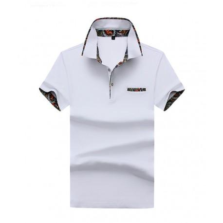 Camisa Masculina Polo Bonita Casual Top Trabalho Negocios Moda Outono