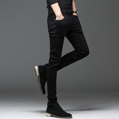 Calças Jeans Preta Casual...