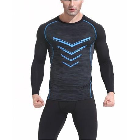 Camiseta Manga Longa Esportiva Elástica para Treinos Fashion Masculino