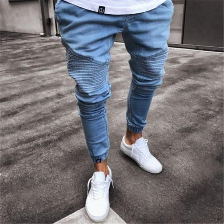 Calça Masculina Jeans Skinny Elastica Bonita Casual Homens Top