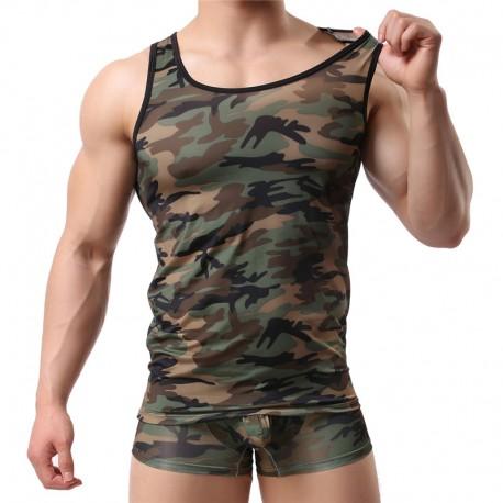 Regata Militar Masculina Fitness Sport Moda Homens Regatas Malhação