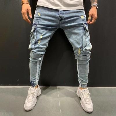 Calça Jeans Fino com Rasgo...