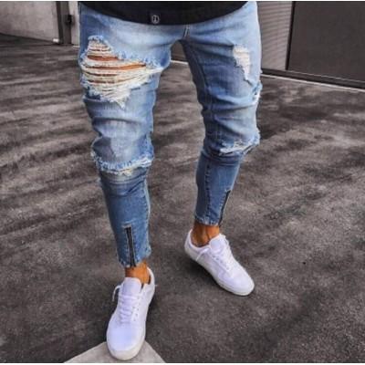 Calça Jeans com Rasgo...
