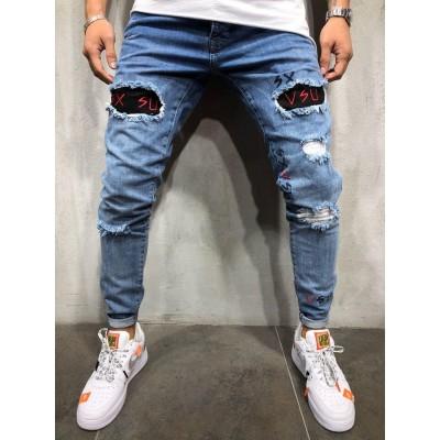 Calça Jeans Fino Justa com...
