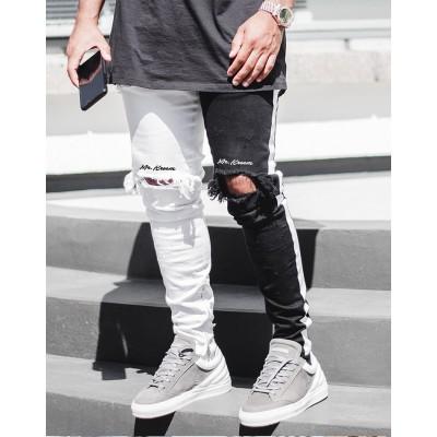 Calça com Estilo Jeans Fino...